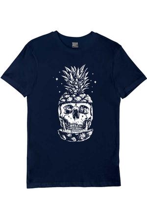 - Ananas Kafa Kısa Kollu Lacivert Erkek T-shirt