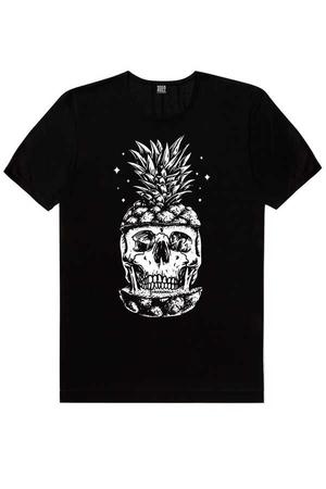 - Ananas Kafa Kısa Kollu Siyah Erkek T-shirt