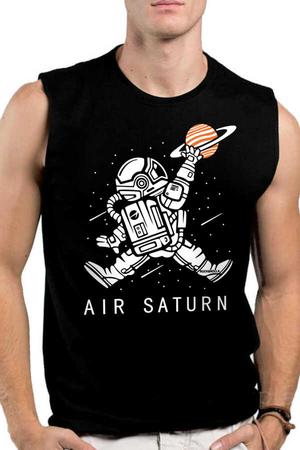 Rock & Roll - Astro Smaç Siyah Kesik Kol | Kolsuz Erkek T-shirt | Atlet