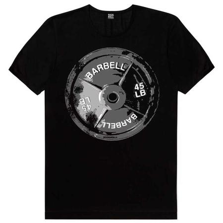 Rock & Roll - Barbell 45 Siyah Kısa Kollu Erkek T-shirt