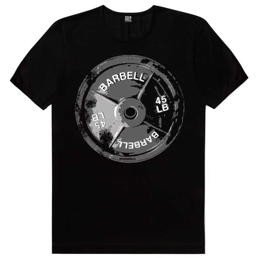 Barbell 45 Siyah Kısa Kollu Erkek T-shirt