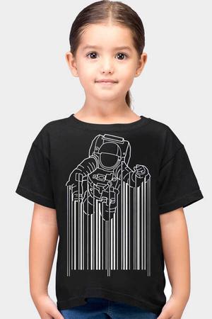 Rock & Roll - Barkod Astro Kısa Kollu Siyah Çocuk T-shirt