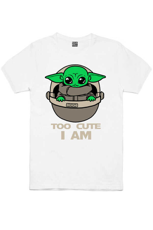 - Bebe Yoda Kısa Kollu Beyaz Erkek T-shirt
