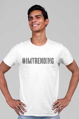 Çok Modayım Kısa Kollu Beyaz Erkek T-shirt - Thumbnail