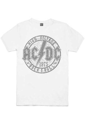 - Dairede ACDC Kısa Kollu Beyaz Erkek T-shirt