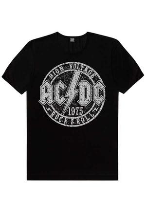 - Dairede ACDC Kısa Kollu Siyah Erkek T-shirt