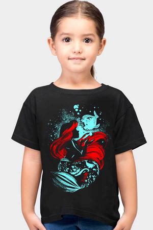 Rock & Roll - Deniz Kızı Siyah Kısa Kollu Çocuk T-shirt