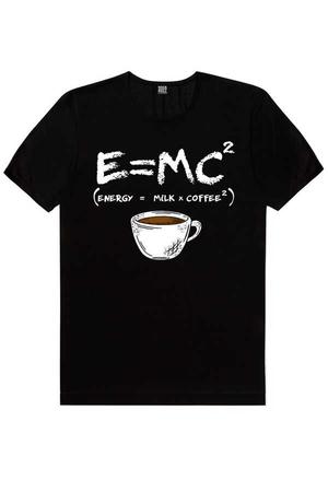 - Enerjik Kahve Kısa Kollu Siyah Erkek T-shirt