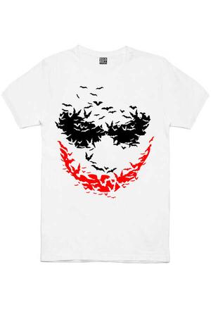 Rock & Roll - Yarasa Gülüşü Beyaz Kısa Kollu Erkek T-shirt