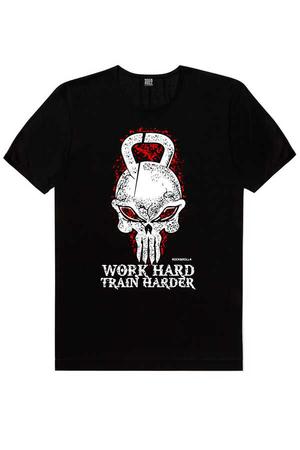 Rock & Roll - Kulplu Kafa Siyah Kısa Kollu Erkek T-shirt