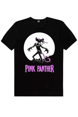 Rock & Roll - Pembe Kara Siyah Kısa Kollu Erkek T-shirt