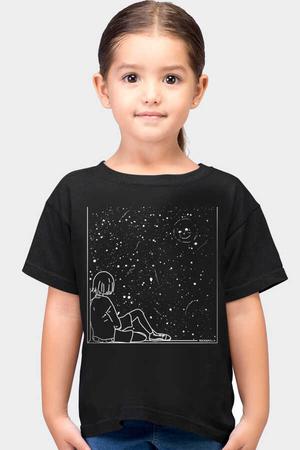 Rock & Roll - Evrensel Gülüş Kısa Kollu Siyah Çocuk T-shirt