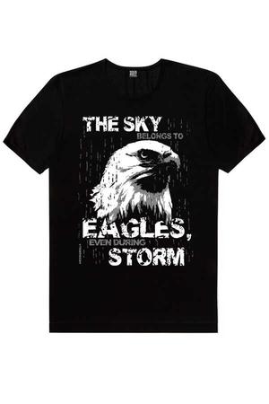 - Göklerin Kartalı Kısa Kollu Siyah Erkek T-shirt