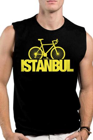 Rock & Roll - İstanbul Bisiklet Siyah Kesik Kol   Kolsuz Erkek T-shirt   Atlet