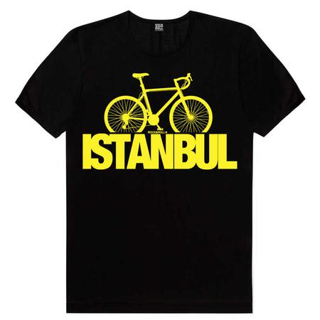 Rock & Roll - İstanbul Bisiklet Siyah Kısa Kollu Erkek T-shirt