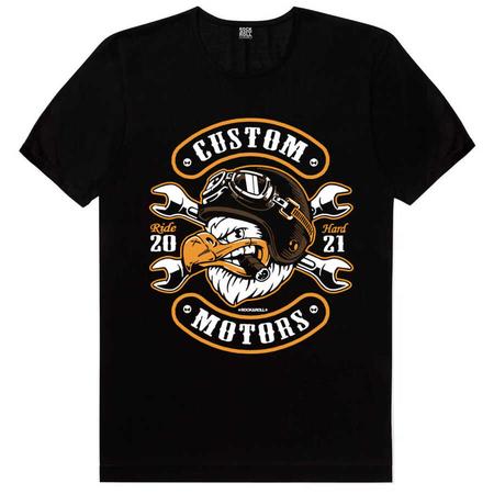 Rock & Roll - Kızgın Kartal Siyah Kısa Kollu Erkek T-shirt