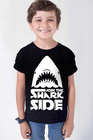 Rock & Roll - Köpekbalığı Savaşları Kısa Kollu Siyah Çocuk T-shirt