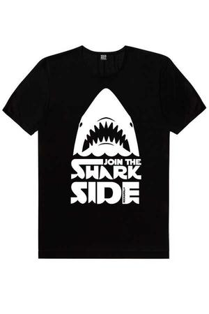 Rock & Roll - Köpekbalığı Savaşları Siyah Kısa Kollu Erkek T-shirt