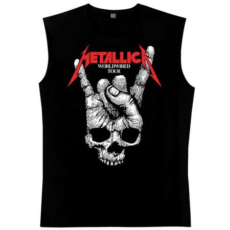 Rock & Roll - Kuru El Siyah Kesik Kol | Kolsuz Erkek T-shirt | Atlet