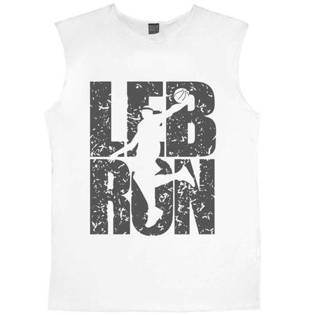 Rock & Roll - Lebron Yazı Kesik Kol | Kolsuz Beyaz Tişört | Atlet