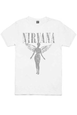 - Melek Nirvana Kısa Kollu Beyaz Erkek T-shirt
