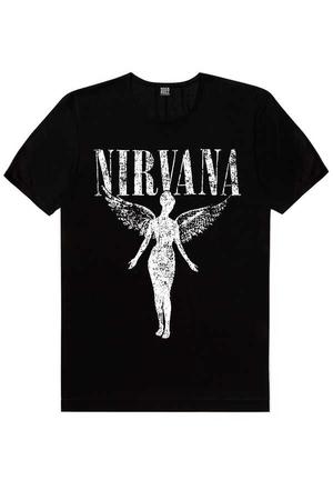 - Melek Nirvana Kısa Kollu Siyah Erkek T-shirt