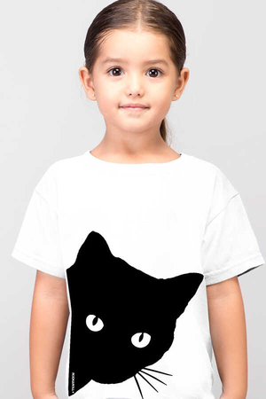 Rock & Roll - Meraklı Kısa Kollu Beyaz Çocuk T-shirt