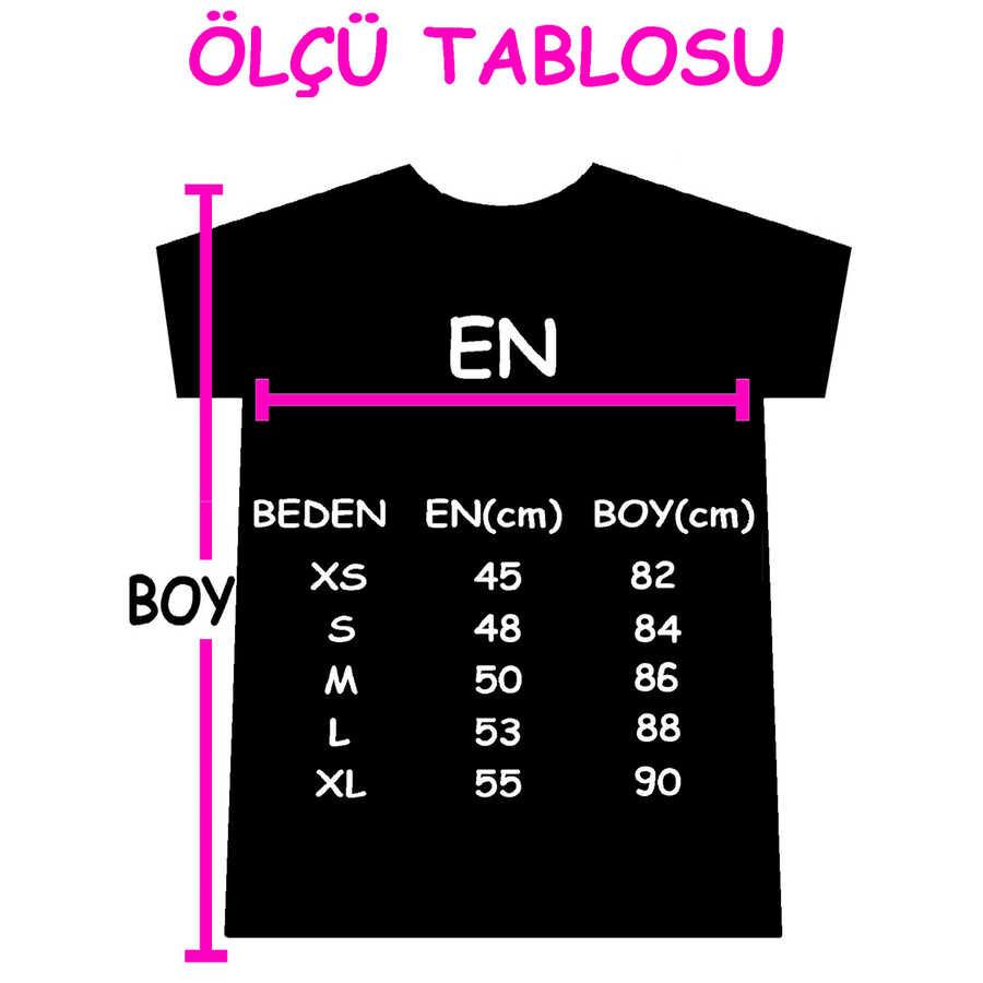 Meraklı Kısa Kollu Penye Kadın   Bayan Kar Melanj T-shirt Elbise