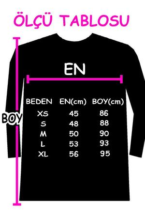 Meraklı Uzun Kollu Kadın   Bayan Kar Melanj Penye T-shirt Elbise - Thumbnail