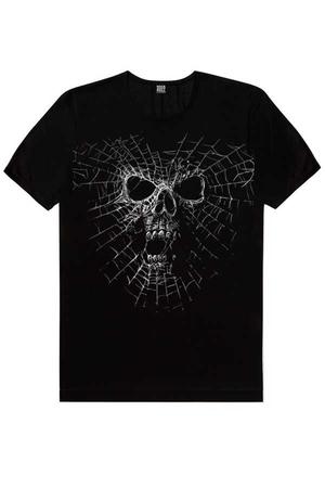 - Örümcek Kurukafa Kısa Kollu Siyah Erkek T-shirt