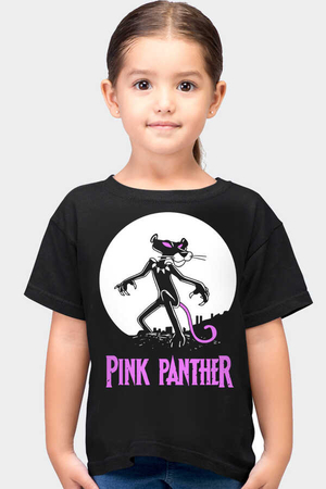 Rock & Roll - Pembe Kara Kısa Kollu Siyah Çocuk T-shirt