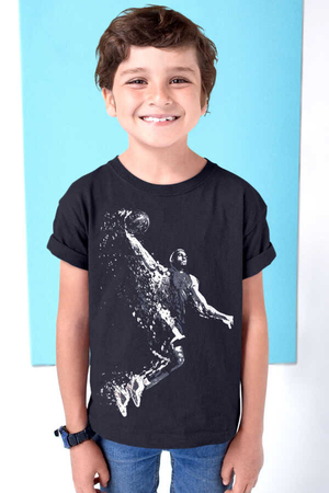 Rock & Roll - Pro Smaç Siyah Kısa Kollu Çocuk T-shirt