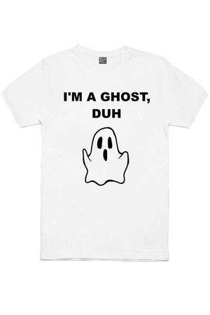 - Sevimli Hayalet Kısa Kollu Beyaz Erkek T-shirt
