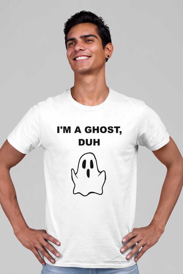 Sevimli Hayalet Kısa Kollu Beyaz Erkek T-shirt