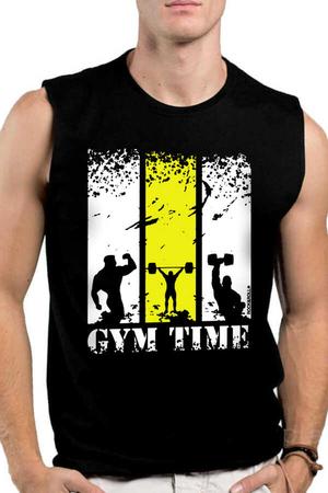 Rock & Roll - Spor Vakti Siyah Kesik Kol | Kolsuz Erkek T-shirt | Atlet