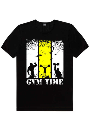 Rock & Roll - Spor Vakti Siyah Kısa Kollu Erkek T-shirt