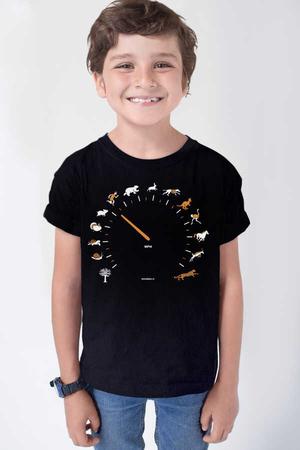 Rock & Roll - Sürat Göstergesi Siyah Kısa Kollu Çocuk T-shirt