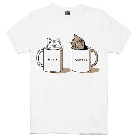 Rock & Roll - Sütlü Sade Beyaz Kısa Kollu Erkek T-shirt