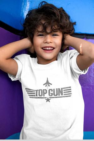 Rock & Roll - Top Gun Kısa Kollu Beyaz Çocuk Tişört