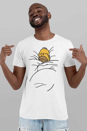 Uykucu Baba Kısa Kollu Beyaz Erkek T-shirt - Thumbnail