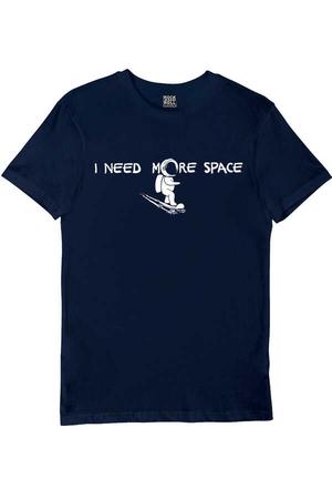- Uzayda Kaykay Kısa Kollu Lacivert Erkek T-shirt