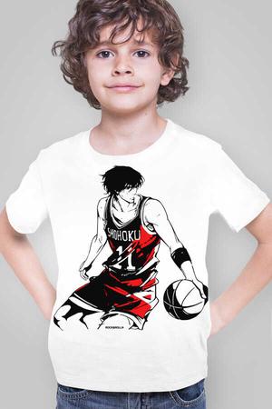 Rock & Roll - Yakışıklı Basketçi Beyaz Kısa Kollu Çocuk T-shirt