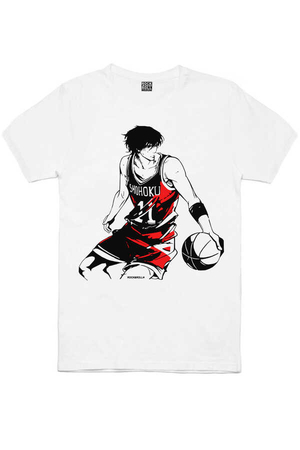 Rock & Roll - Yakışıklı Basketçi Beyaz Kısa Kollu Erkek T-shirt