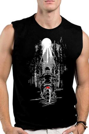 Rock & Roll - Yalnız Kovboy Siyah Kesik Kol   Kolsuz Erkek T-shirt   Atlet